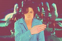 Michael Jackson using sign language in an alternate video for the single, They Don't Care About Us.