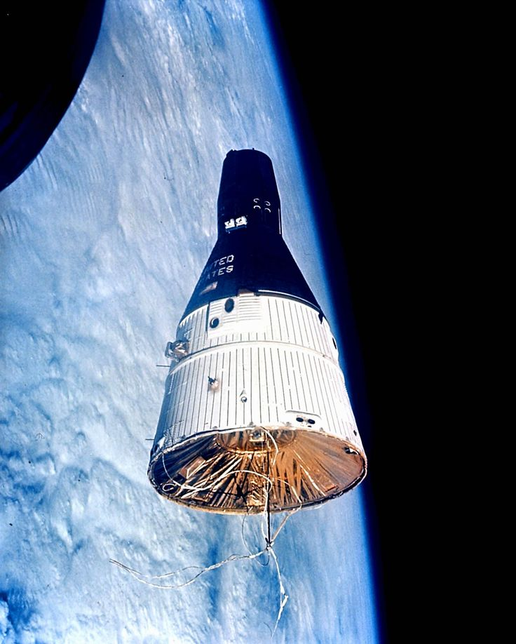 Gemini 7 as seen from Gemini 6 during their rendezvous in space