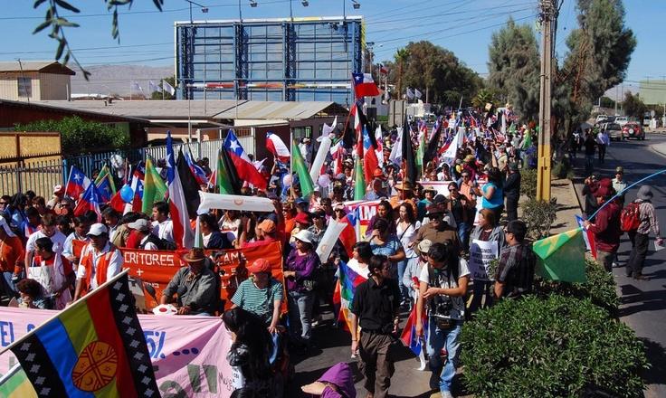 Masiva marcha en Calama (Región de Antofagasta) 20-03-2012