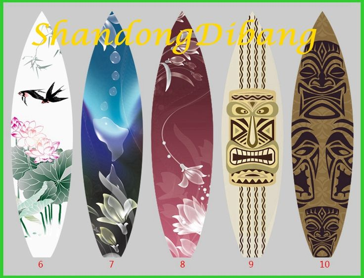 DBS18 World popular Colorful patterned Enviromental Surfboards Cheap Paddle Boards On water