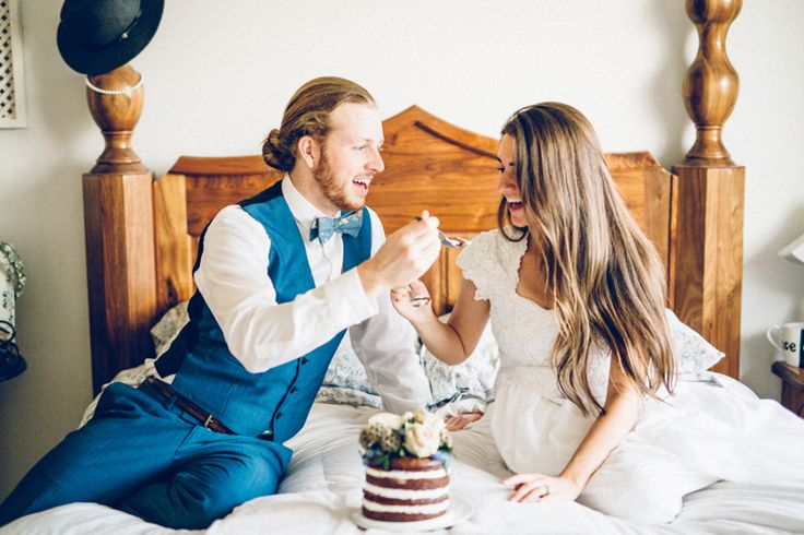 1 YEAR ANNIVERSARY - get dressed up in your wedding clothes and eat the top of your cake on your anniversary!