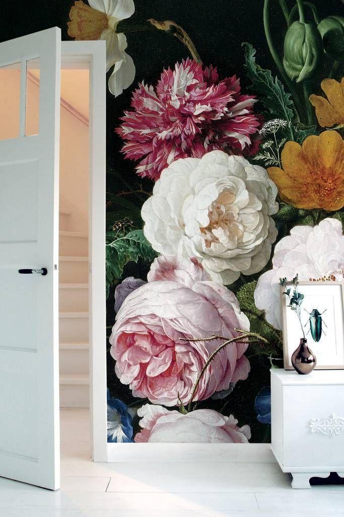 Afbeeldingsresultaat voor bloemenbehang woonkamer kek