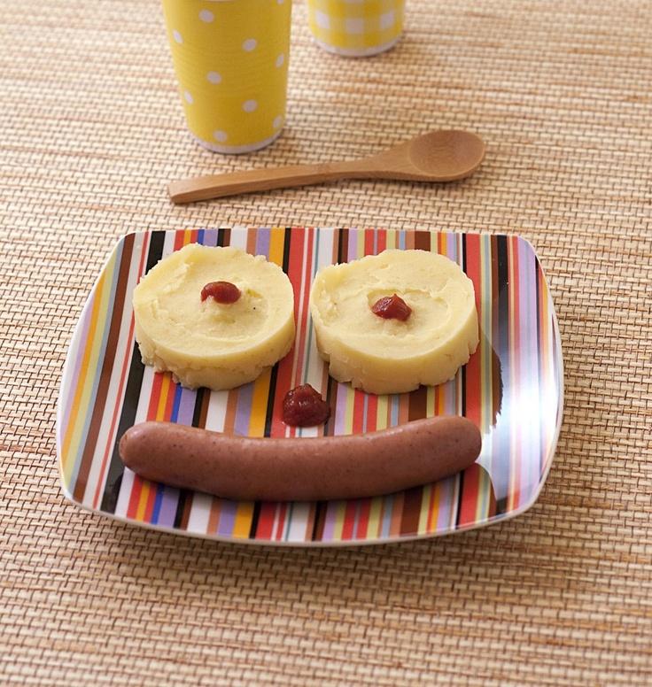 Saucisse purée de pommes de terre - Recette pour enfants - les meilleures recettes de cuisine d'Ôdélices