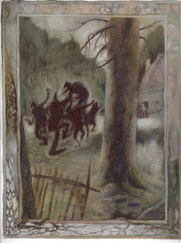 O dobré a zlé moci ; ilustrace ke knize K. Šiktance ; František Skála