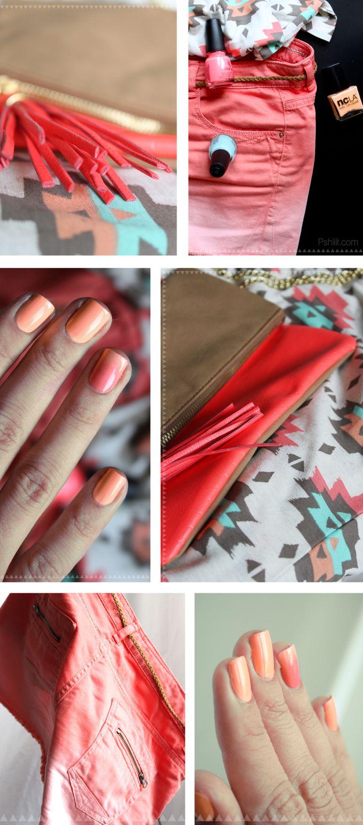 Un coucher de soleil sur mes ongles // Nfu Oh & NCLA // nails