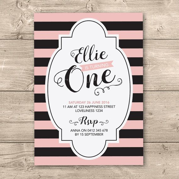 Girls birthday invitation // Available as any by InkandCardDesigns