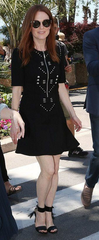 Julianne Moore In Louis Vuitton Attends A Cannes Yacht Party