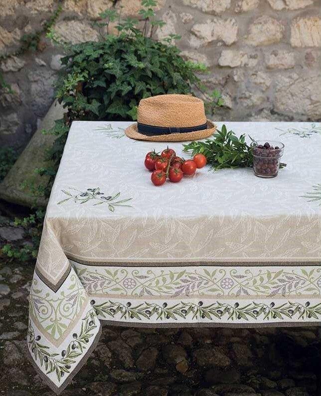 Square Table Cloth Jacquard Woven Auriol