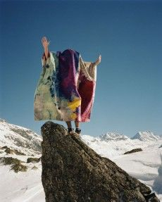 RUG STAR COLLECTION Splash Design photographed by Swiss photographer Lukas Wassman in the Swiss alps