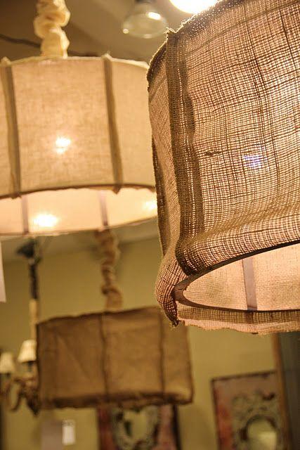 Burlap no tutorial great idea for diy burlap lamps