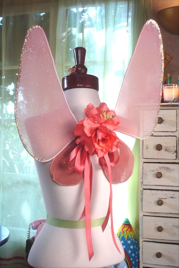 How To Make Fairy Wings With Hangers and Tights
