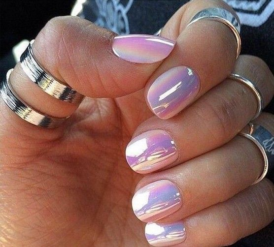 Amazon.com : sally hansen chrome nail polish, why they used those press on nails that are way too big.... I'll never know!