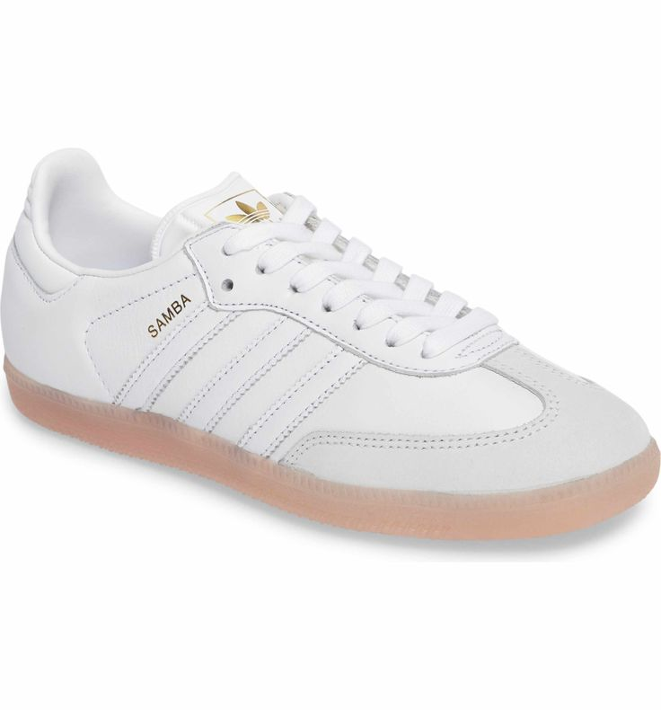 \u0027samba\u0027 sneaker by adidas. A sporty leather skate shoe is styled to look  like the original Samba indoor-soccer shoe and features the colorways f.