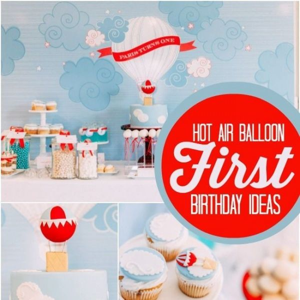 Would you like your boy's first birthday to be a departure from the everyday? See charming ideas for celebrating with this Boy's Hot Air Balloon 1st Birthday!