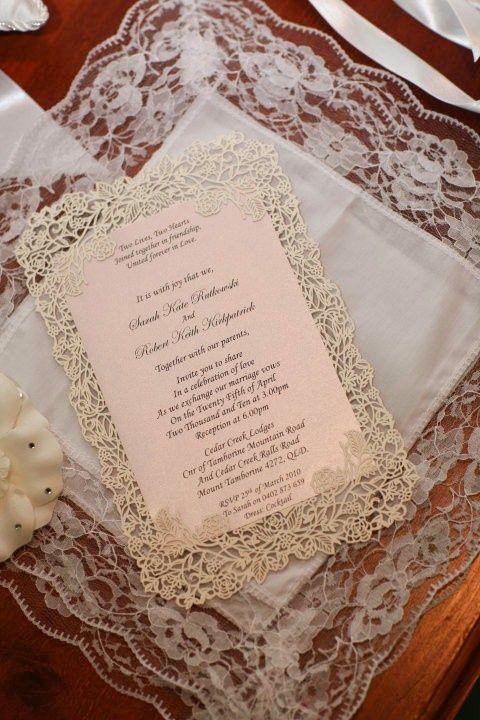 convite / laser cut lace stencil wedding invitation