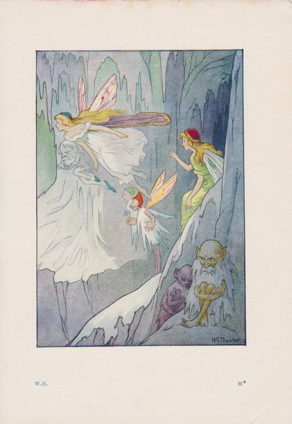 """Caves and bridges and storeys and galleries in which the ice-fairies live."""