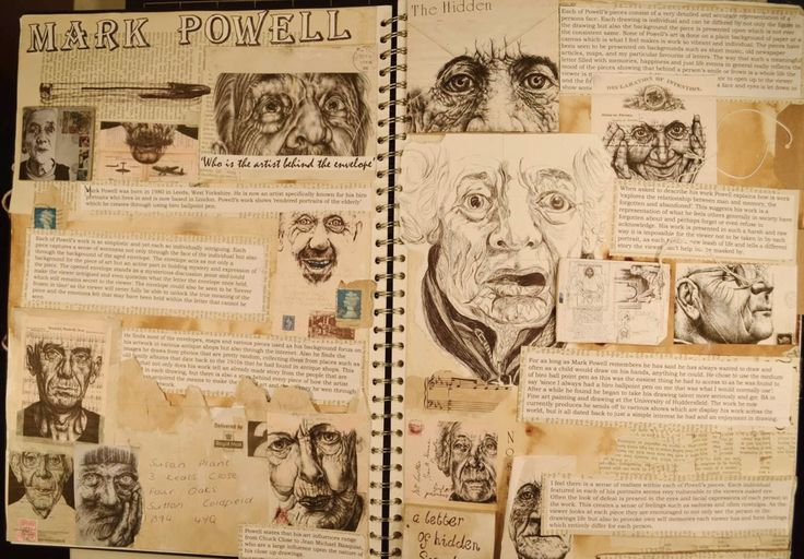 a level art sketchbook artist research - Google Search