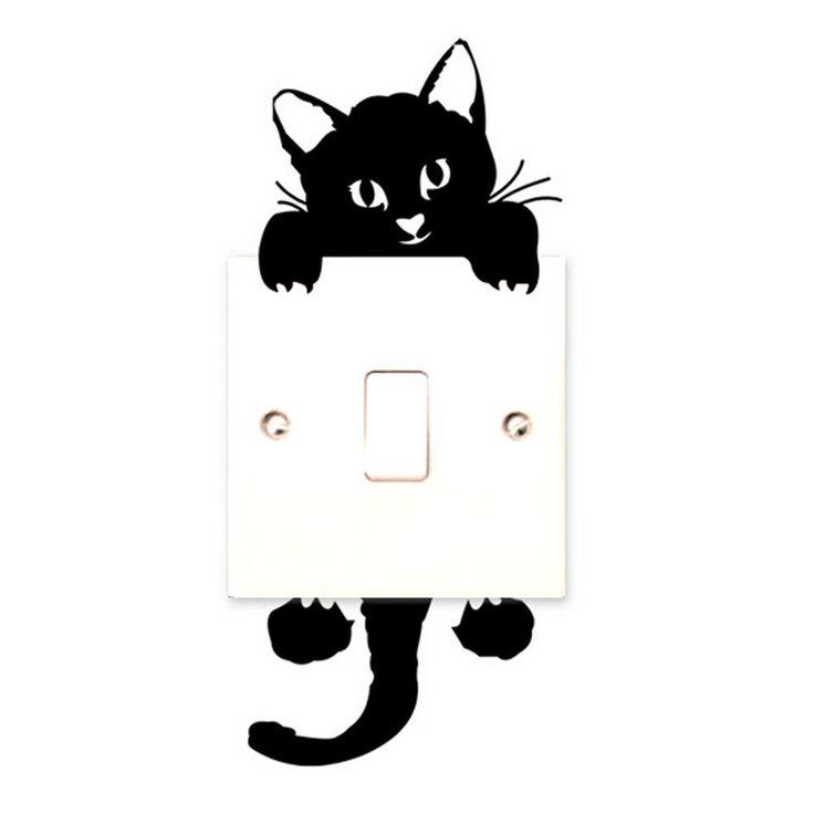 זול sannysis 2015 אופנה חדשה חתול מדבקות קיר מדבקות דקור אמנות קיר בייבי משתלת חדר מתג אור, לקנות איכות מדבקות קיר ישירות מספקי סין: sannysis 2015 אופנה חדשה חתול מדבקות קיר מדבקות דקור אמנות קיר בייבי משתלת חדר מתג אור תכונה :100% מותג חדש באיכות גבוהה
