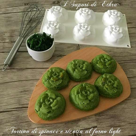 Amici oggi un'altra ricetta light ma molto gustosa... Tortino di spinaci e ricotta al forno light...Piatto decisamente sano e gustoso...