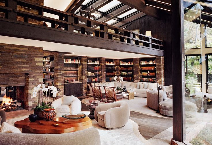 The Interior Designs of François Catroux--the California home of Diane von Furstenberg and Barry Diller-2012