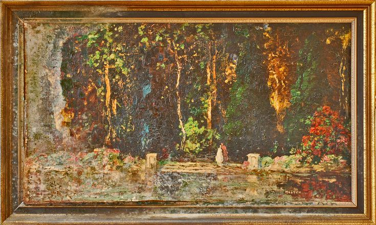 Tom Mostyn - Thomas Edwin Mostyn The Lovers (Damaged) Ref: 138 huge collection of original Thomas Edwin Mostyn available for exhibitions or sale