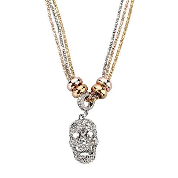 Designer Necklace & Pendant Gold Silver Chain for Women $14.99 www.missmolly.com.au #missmollyau #accessories #necklaces #jewellery #pendants #fashion #womensfashion #skull
