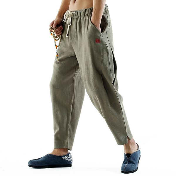 1fa263c491 Newchic - Fashion Chic Clothes Online, Discover The Latest Fashion Trends  Mobile. INCERUN Mens Casual Baggy Cotton Linen Harem Pants Solid Color Loose  ...