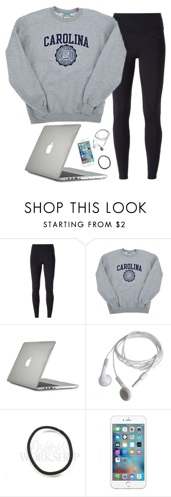"""Sick day"" by aweaver-2 ❤ liked on Polyvore featuring NIKE, Champion and Speck"