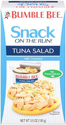 Our Snack on the Run! #Tuna #Salad is a perfect on-the-go snack for school lunches or a quick bite before the gym. Designed to give you that extra boost during th...