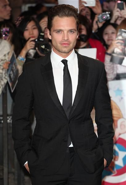 """Sebastian StanWhere you've seen him: Trading blows with Chris Evans in """"Captain America: The Winter Soldier""""The native Romanian, who's romanced Leighton Meester, Jennifer Morrison and Dianna Agron, showed off his fabulous cheekbones at the U.K. premiere of """"Captain America: The Winter Soldier"""" in London."""