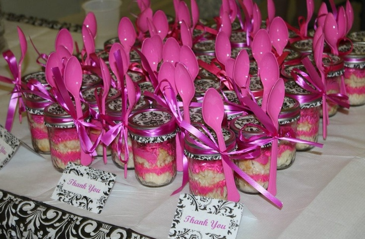 Baby Shower Thank You Gifts Cupcakes In A Jar Party S