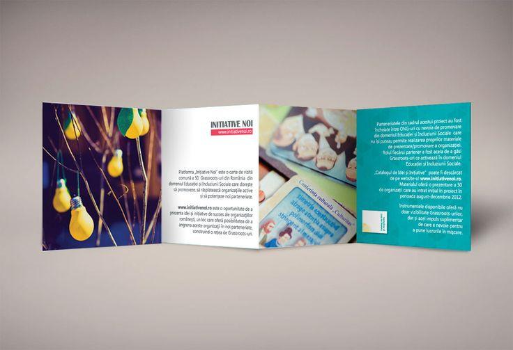 brochure to promote the web platform www.initiativenoi.ro