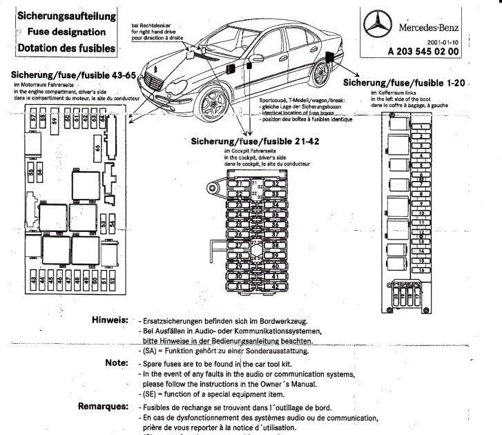 Mercedes W203 Fuse Box In 2021 Fuse Box Mercedes Mercedes Benz