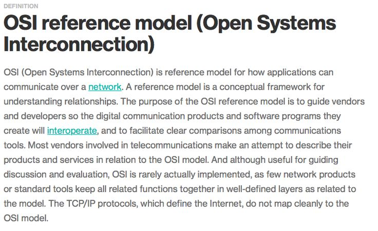 Open Systems Interconnection