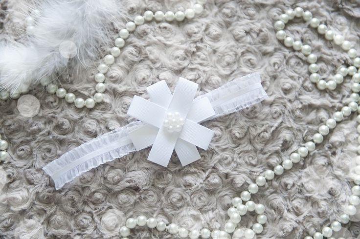 Opaska dla dziewczynki cienka z perełkami - Sklep internetowy