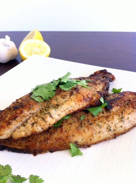 Pan seared catfish, lemon & herb seasoning