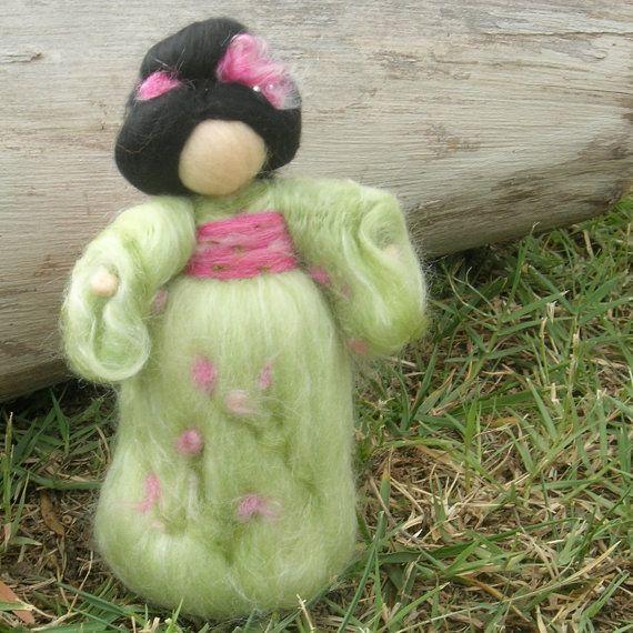 Geisha Fairy Made to order Standing Wool needle felted von Nushkie