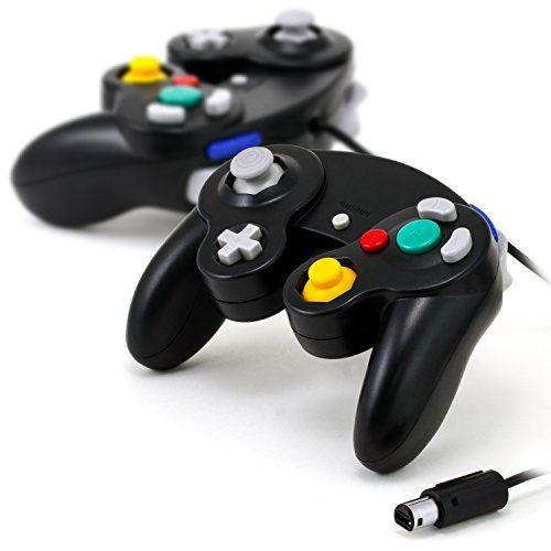 CSL - 2x Gamepad / Controlador para Nintendo Wii + Wii U + GameCube   Controlador con efecto de vibración   Mando de juego con cable   negro #Gamepad #Controlador #para #Nintendo #GameCube #efecto #vibración #Mando #juego #cable #negro