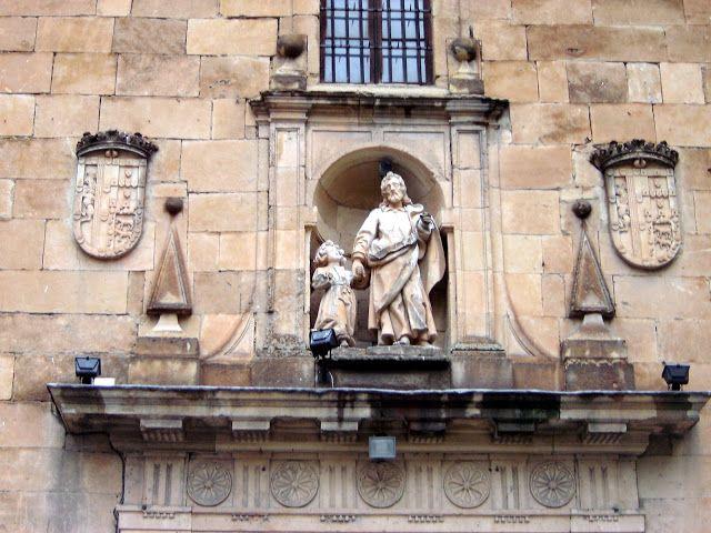 facade of chapel in  the Paseo Carmelitas Salamanca  http://bobbovington.blogspot.com.es/2011/11/salamanca.html