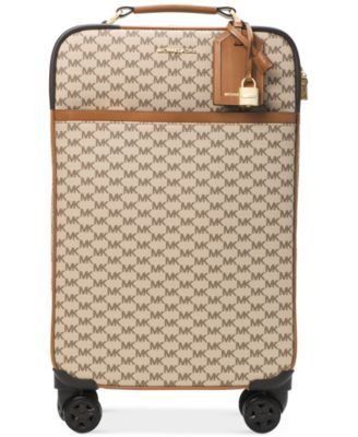 MICHAEL Michael Kors 4-Wheel Large Signature Travel Trolley Suitcase | macys.com