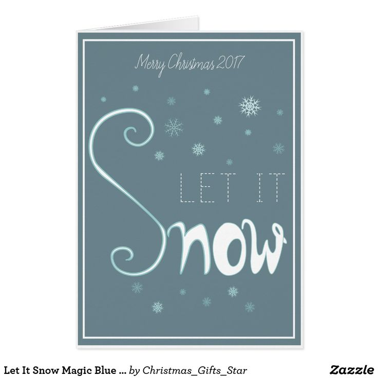 Let It Snow Magic Blue Card