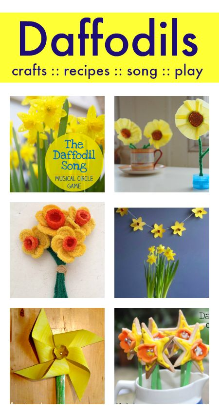 Lovely daffodil crafts for kids, plus St. David's Day activities