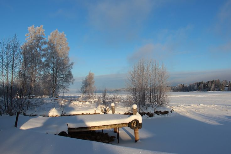 Solig vinterdag i Leksand.