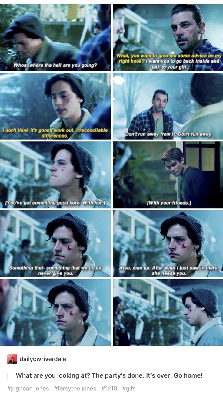 I hate Jughead's dad some much. But he made sure that Jughead wasn't dumb and let Betty go.