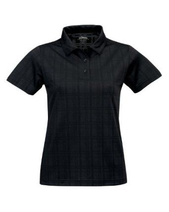 Tri-Mountain Women's Tonal Plaid Jacquard Wicking Polo Jersey, BLACK, XXX-Large Tri-Mountain. $31.99