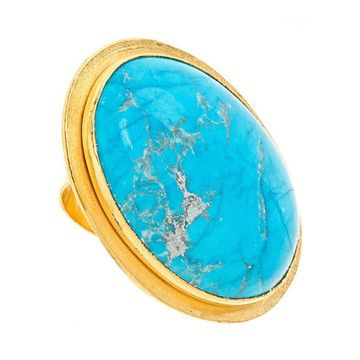 Big Chunk Of Turquoise Ring now featured on Fab.