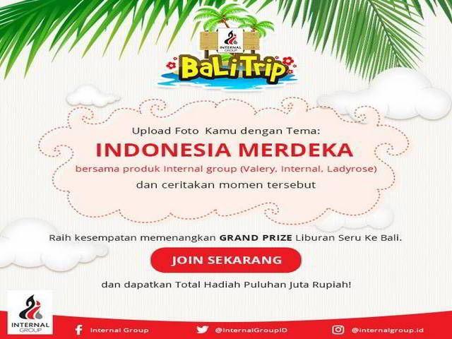Kontes Foto Indonesia Merdeka Berhadiah Paket Liburan ke Bali - Hai sobat MisterKuis! Dalam rangka memperingati Hari Kemerdekaan Indonesia ke-71