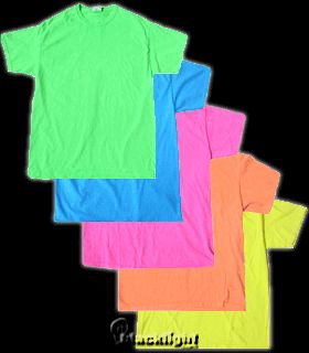 blacklight reactive tees. cut them into cool shapes and styles for your own thing, or as an activity at blacklight party!