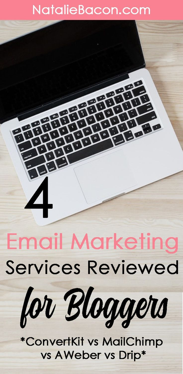 My Review Of 4 Email Marketing Services For Bloggers #nataliebacon #bloggingtips #convertkit #mailchimp #emailmarketing