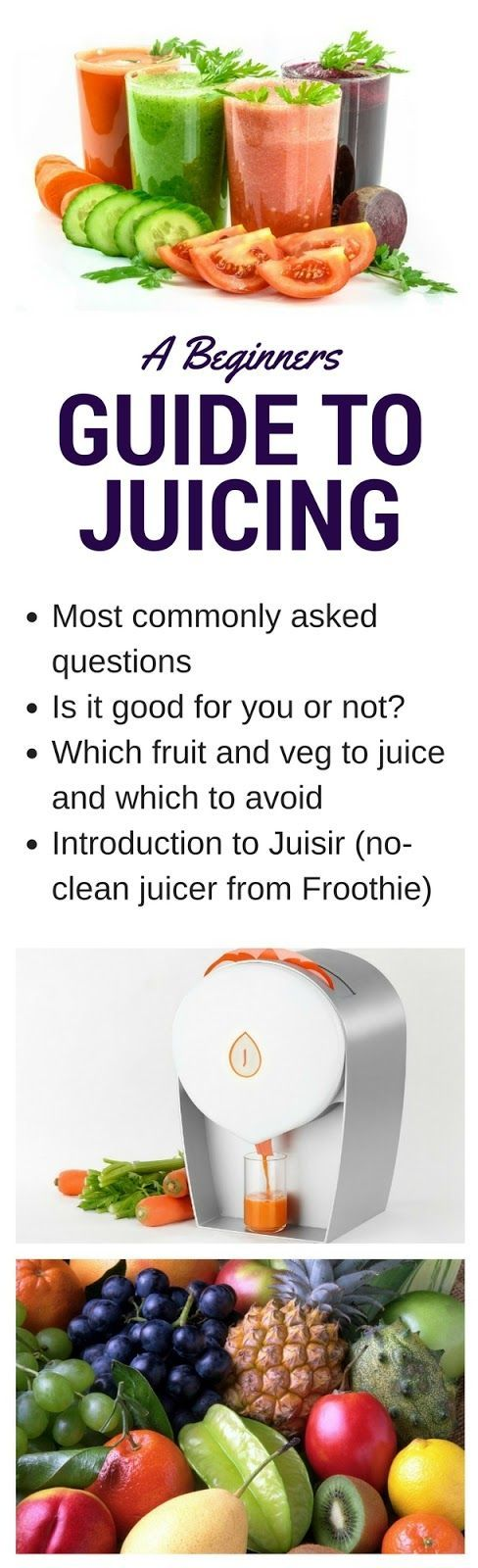 An easy guide to juicing, why it's good for you and what to juice as well as an introduction to the Juisir, a new no-clean juicer from Froothie.